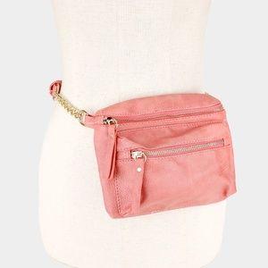 Pimk Leather Crossbody Bag / Fanny Pack Dual